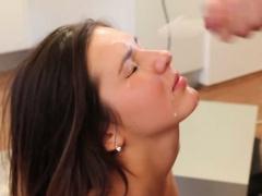 Facial sperm euro lover sucking dick
