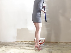 Sexy wall painting heels...