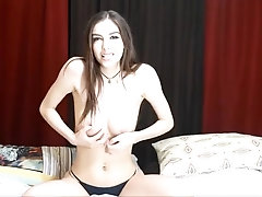 Mind-Blowing Brown-Haired Web Cam Doll Getting Off - Jerk Off Instructions And Sploog - Part two