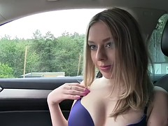 Flat chested Russian blonde gets paid to be fucked