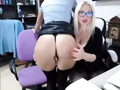 Scorching Mischievous Nymphs In The Office - PornGem