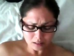 Solid wife gets a creampie climax after work