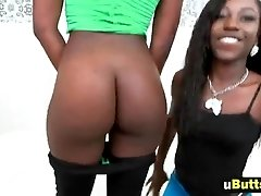 Naomi Gamble and Molleuex Au Chocolat suck and ride big white dick