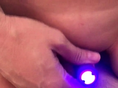 Buxom mature blonde enjoys a sex toy and a hard dick in POV