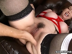 Izumi Tachibana got tied up tight and squirting