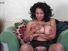 Amazing UK MOM with big boobs