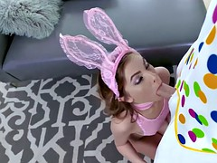 tiny easter bunny babe gets twat pounded