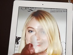 Dakota Fanning cumtribute - april 2015
