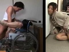 Lustful Japanese housewife hears her neighbors having sex