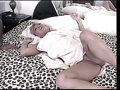 Big tits blonde blowing a lucky guy