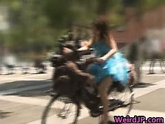 Anri Hiramatsu Asian babe rides