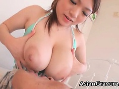 Great brunette asian babes with big tits