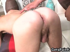 Attractive gay guy blows hard big fat