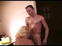 Brazilian Blonde Shemale fucked