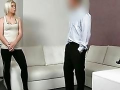 Cute sex kitten Sally boned and facialed