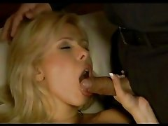 Cum lover Victoria Lanz gets double penetrated before getting splattered with ji